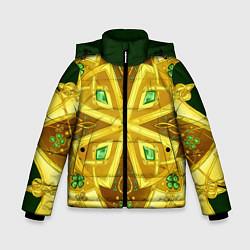 Куртка зимняя для мальчика Золотой клевер цвета 3D-черный — фото 1