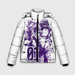 Куртка зимняя для мальчика Евангелион, EVA 01 цвета 3D-черный — фото 1