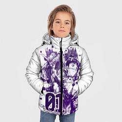 Детская зимняя куртка для мальчика с принтом Евангелион, EVA 01, цвет: 3D-черный, артикул: 10288265506063 — фото 2