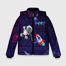 Куртка зимняя для мальчика Deep Space Cartoon цвета 3D-черный — фото 1