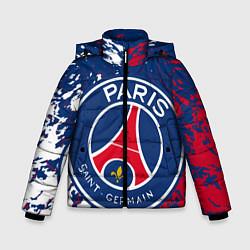 Куртка зимняя для мальчика ФК ПСЖ FC PSG PARIS SG цвета 3D-черный — фото 1