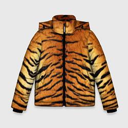 Куртка зимняя для мальчика Шкура Тигра цвета 3D-черный — фото 1