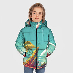 Куртка зимняя для мальчика No Man Sky цвета 3D-черный — фото 2