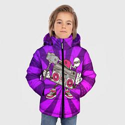 Куртка зимняя для мальчика Магнитофон делает сэлфи цвета 3D-черный — фото 2