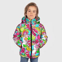 Куртка зимняя для мальчика Губы фреш цвета 3D-черный — фото 2