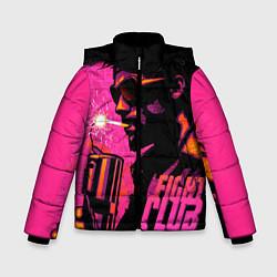 Куртка зимняя для мальчика Тайлер Дёрден с динамитом цвета 3D-черный — фото 1