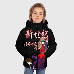 Куртка зимняя для мальчика Евангелион 3 01 0 цвета 3D-черный — фото 2