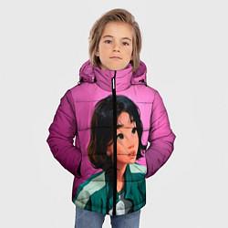 Куртка зимняя для мальчика 067 игра в кальмара цвета 3D-черный — фото 2