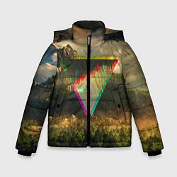 Детская зимняя куртка для мальчика с принтом 30 seconds to mars, цвет: 3D-черный, артикул: 10063910306063 — фото 1