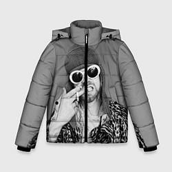 Куртка зимняя для мальчика Кобейн в очках - фото 1