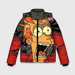 Куртка зимняя для мальчика Frai Horrified цвета 3D-черный — фото 1
