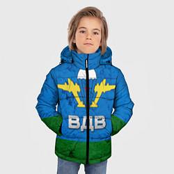 Детская зимняя куртка для мальчика с принтом Флаг ВДВ, цвет: 3D-черный, артикул: 10064285306063 — фото 2