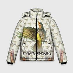 Детская зимняя куртка для мальчика с принтом Imagine Dragons: Fly, цвет: 3D-черный, артикул: 10064383406063 — фото 1