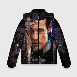 Детская зимняя куртка для мальчика с принтом Доктор кто, цвет: 3D-черный, артикул: 10065035006063 — фото 1