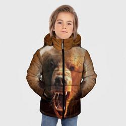 Куртка зимняя для мальчика Рык медведя цвета 3D-черный — фото 2
