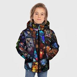 Куртка зимняя для мальчика Dota 2: All Pick цвета 3D-черный — фото 2
