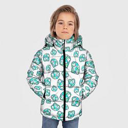 Детская зимняя куртка для мальчика с принтом Бриллианты, цвет: 3D-черный, артикул: 10065053006063 — фото 2