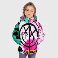 Куртка зимняя для мальчика Blink-182: Purple Smile цвета 3D-черный — фото 2