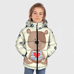Куртка зимняя для мальчика Любовь мишки цвета 3D-черный — фото 2