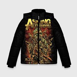 Куртка зимняя для мальчика Asking Alexandria цвета 3D-черный — фото 1