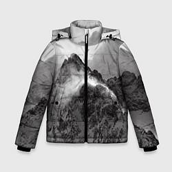 Куртка зимняя для мальчика Горы цвета 3D-черный — фото 1