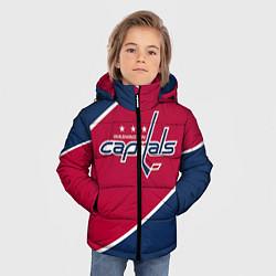 Детская зимняя куртка для мальчика с принтом Washington capitals, цвет: 3D-черный, артикул: 10071133406063 — фото 2