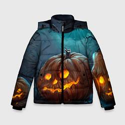 Куртка зимняя для мальчика Тыква цвета 3D-черный — фото 1