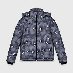 Куртка зимняя для мальчика Эмодзи цвета 3D-черный — фото 1
