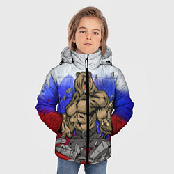Куртка зимняя для мальчика Русский медведь цвета 3D-черный — фото 2