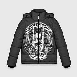 Куртка зимняя для мальчика Sinister Souls: Horns Up цвета 3D-черный — фото 1