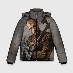 Куртка зимняя для мальчика Флоки цвета 3D-черный — фото 1