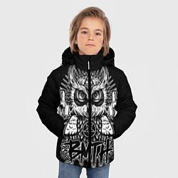 Детская зимняя куртка для мальчика с принтом BMTH Owl, цвет: 3D-черный, артикул: 10073643806063 — фото 2