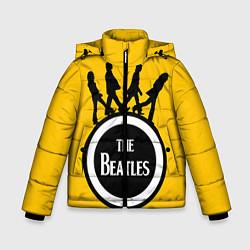 Куртка зимняя для мальчика The Beatles: Yellow Vinyl цвета 3D-черный — фото 1