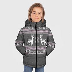 Куртка зимняя для мальчика Узор с оленями - фото 2