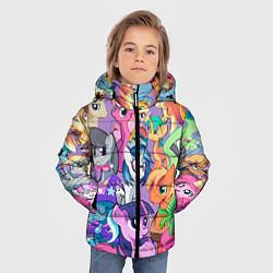 Детская зимняя куртка для мальчика с принтом My Little Pony, цвет: 3D-черный, артикул: 10075443806063 — фото 2