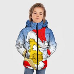 Куртка зимняя для мальчика Санта Гомер цвета 3D-черный — фото 2