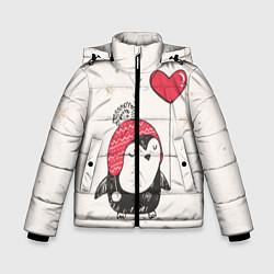 Куртка зимняя для мальчика Влюбленный пингвин - фото 1