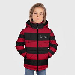 Куртка зимняя для мальчика Автограф Курта Кобейна цвета 3D-черный — фото 2