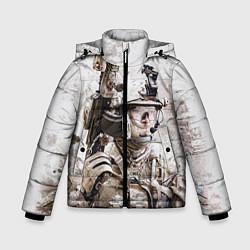 Куртка зимняя для мальчика ФСБ Альфа цвета 3D-черный — фото 1