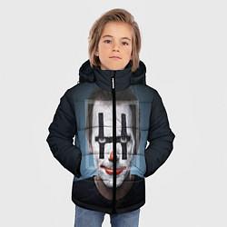 Куртка зимняя для мальчика Clown House MD цвета 3D-черный — фото 2