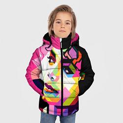 Куртка зимняя для мальчика Michael Jackson Art цвета 3D-черный — фото 2