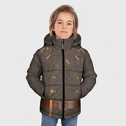 Куртка зимняя для мальчика Шинель цвета 3D-черный — фото 2