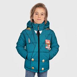 Куртка зимняя для мальчика Китель цвета 3D-черный — фото 2