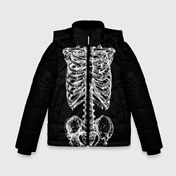 Куртка зимняя для мальчика Скелет цвета 3D-черный — фото 1