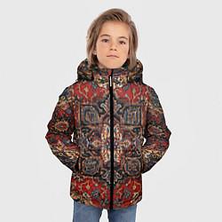 Куртка зимняя для мальчика Модный ковер цвета 3D-черный — фото 2