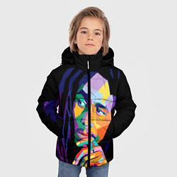 Куртка зимняя для мальчика Bob Marley: Art цвета 3D-черный — фото 2