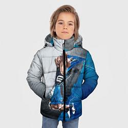 Куртка зимняя для мальчика Баскетбол бросок цвета 3D-черный — фото 2