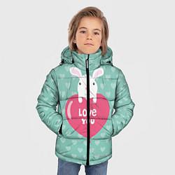 Куртка зимняя для мальчика Rabbit: Love you цвета 3D-черный — фото 2
