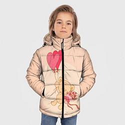 Куртка зимняя для мальчика Мишка на воздушном шарике цвета 3D-черный — фото 2