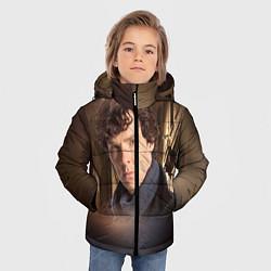 Куртка зимняя для мальчика Бенедикт Камбербэтч 1 цвета 3D-черный — фото 2